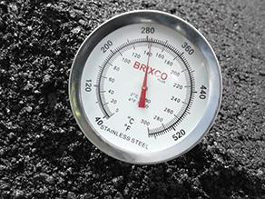 Control temperatura mezcla asfáltica CTU